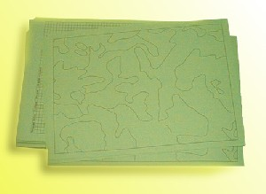 paper with map pattern