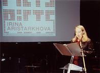 Irina lecturing